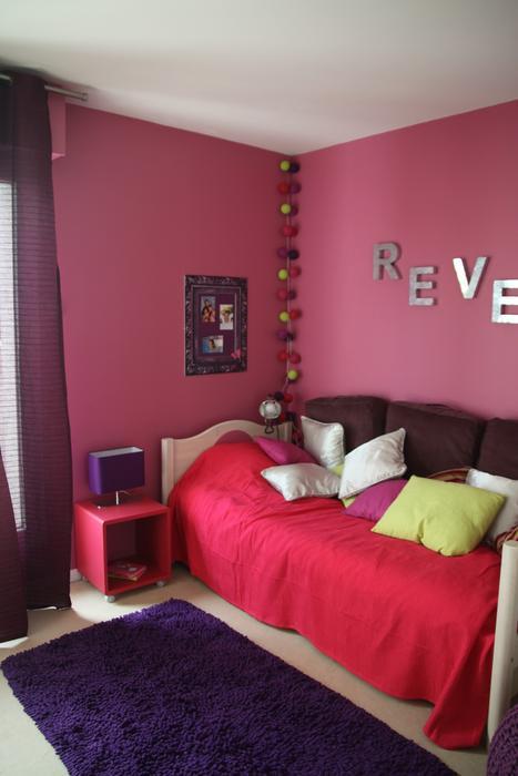 Deco Chambre Fille Rose Et Mauve U2013 Visuel #1
