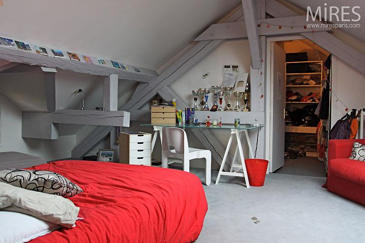 Déco Chambre Sous Pente : Deco chambre garcon sous pente visuel