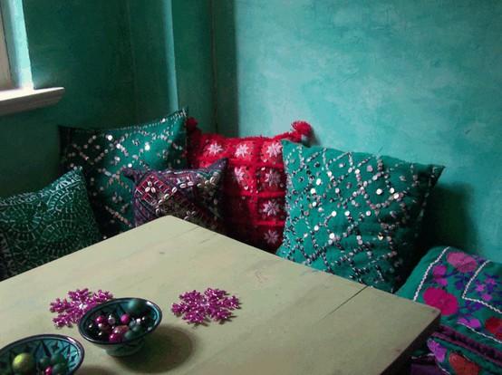 deco chambre indienne bleu. Black Bedroom Furniture Sets. Home Design Ideas