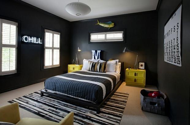 deco chambre noir et jaune - visuel #5