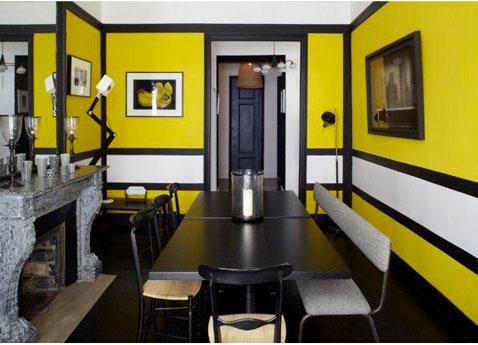 deco chambre noir et jaune - visuel #6