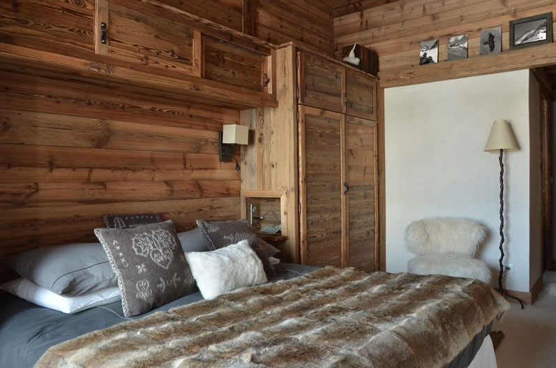 d co chambre style chalet. Black Bedroom Furniture Sets. Home Design Ideas