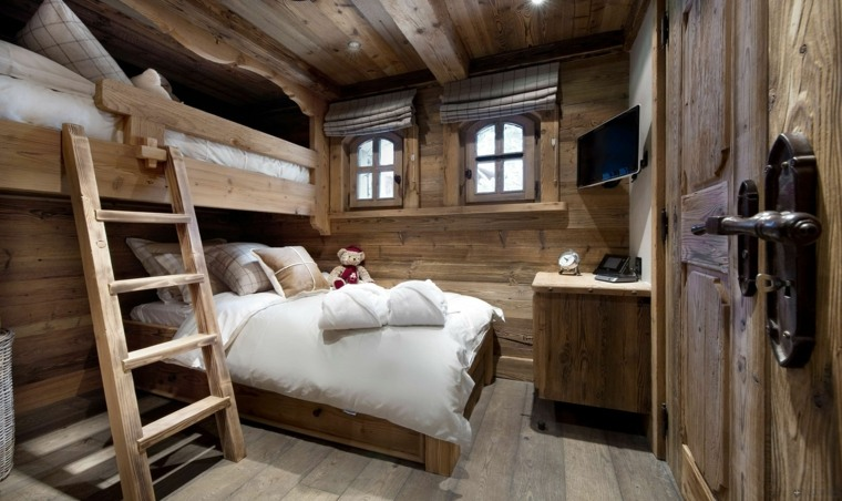 deco chambre style chalet. Black Bedroom Furniture Sets. Home Design Ideas