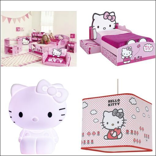 Chambre fille hello kitty kitty bedroom decor on hello kitty decoration deco chambre fille for Chambre enfant fille hello kitty
