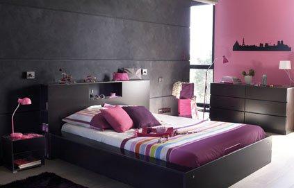deco de chambre noir et rose - Idee Peinture Chambre Adulte Design