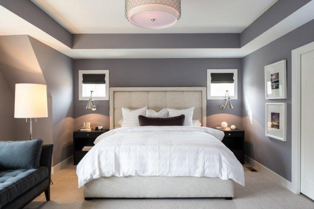 decoration chambre a coucher grise