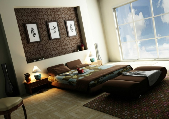 Mobilier Chambre Bebe Gris : decoration chambre a coucher marron decoration chambre a coucher