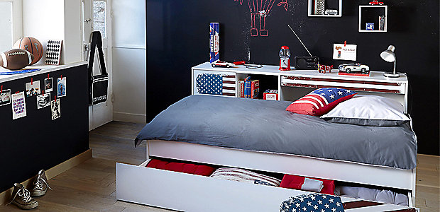 decoration chambre usa. Black Bedroom Furniture Sets. Home Design Ideas