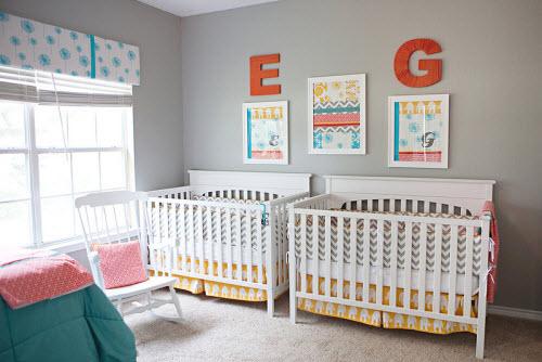 decoration chambre bebe jumelles - visuel #2