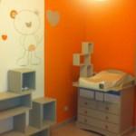 decoration chambre garcon orange