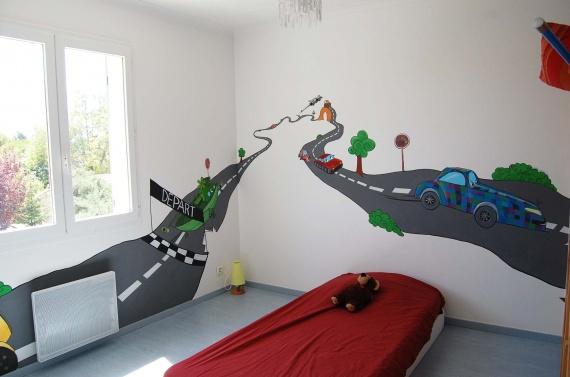 decoration chambre garcon theme voiture. Black Bedroom Furniture Sets. Home Design Ideas