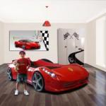 decoration chambre garcon voiture