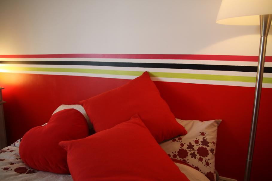 Peinture et decoration chambre for Decoration peinture chambre adulte rennes
