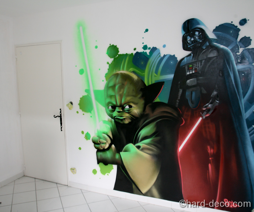 Decoration chambre star wars for Decoration porte star wars