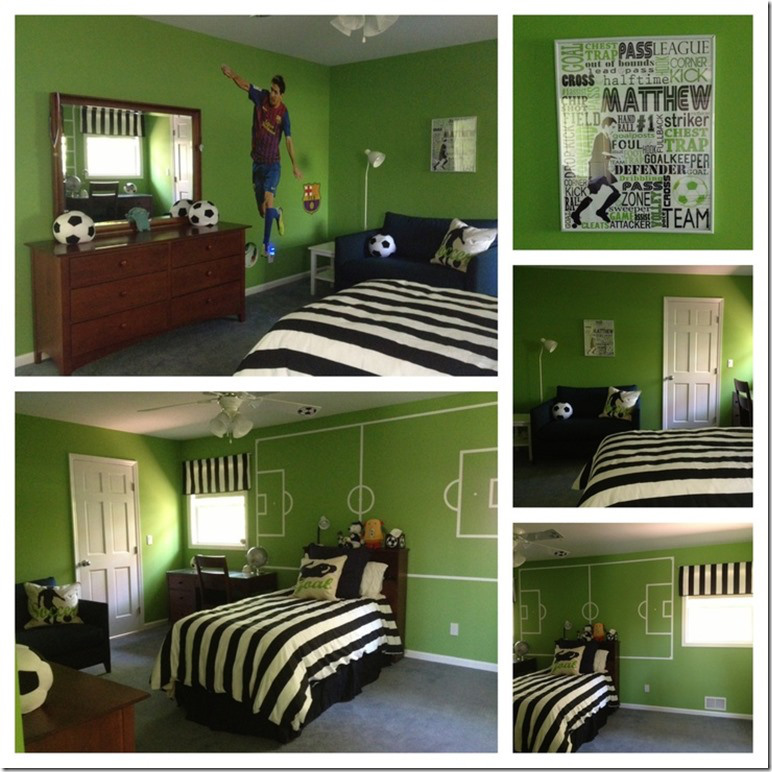 Decoration chambre theme football - Thema deco chambre ...