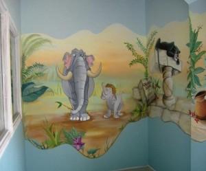 decoration chambre theme jungle