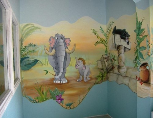Decoration chambre theme jungle for Decoration chambre jungle