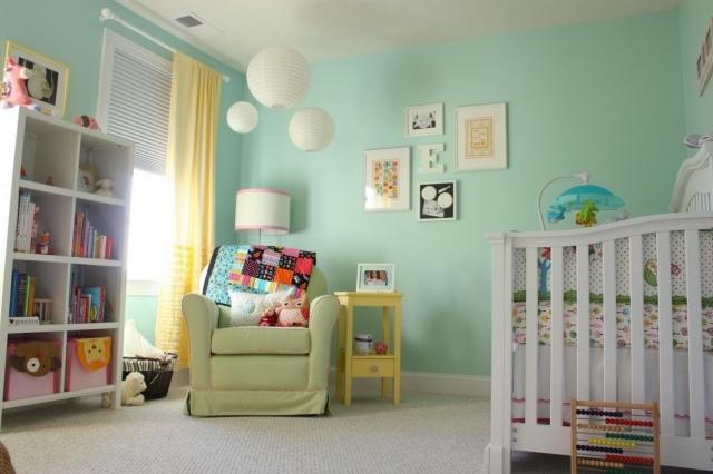 decoration chambre vert et rose - visuel #5