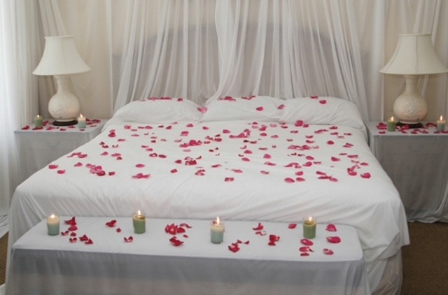 decoration lit saint valentin