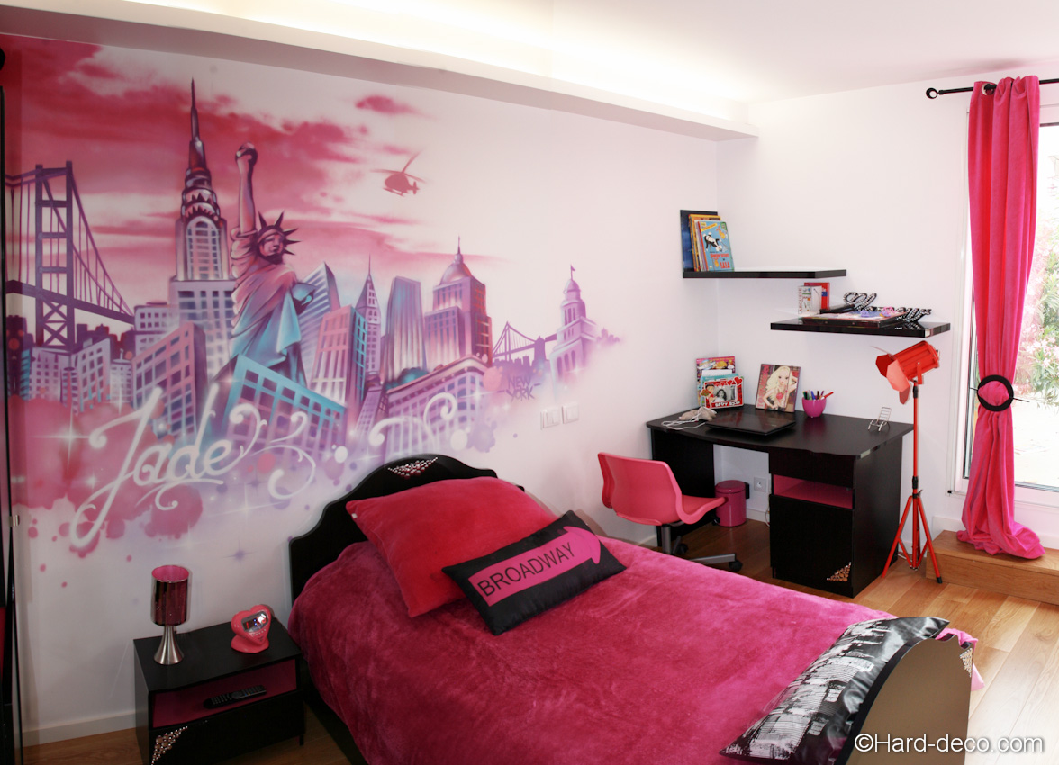 Idee de decoration de chambre d ado fille for Chambre idee deco