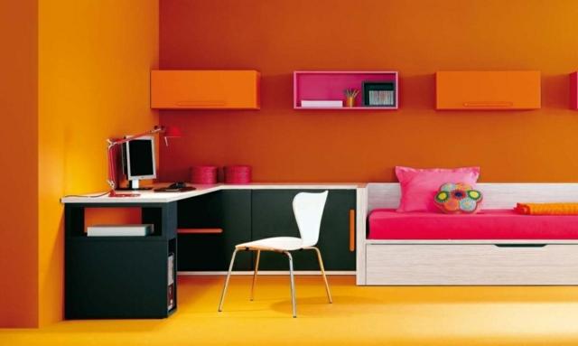idee deco chambre ado orange visuel 1