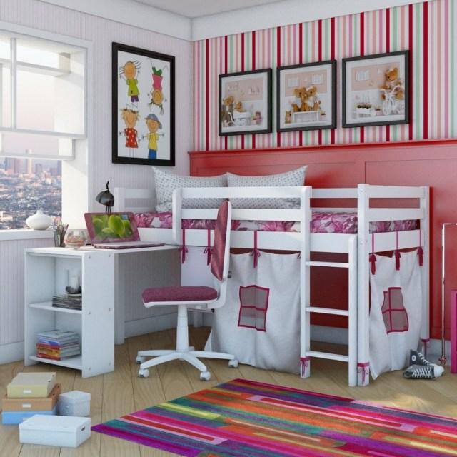 idee deco chambre fille lit mezzanine - visuel #2
