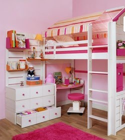 idee deco chambre fille lit mezzanine visuel 1. Black Bedroom Furniture Sets. Home Design Ideas