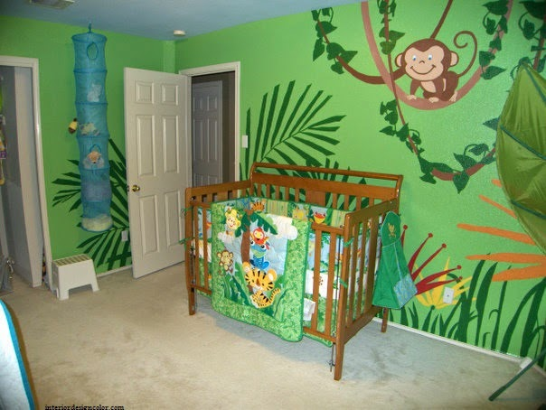 idee decoration chambre bebe jungle - visuel #7