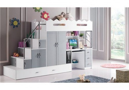 lit superpose avec bureau pour fille visuel 3. Black Bedroom Furniture Sets. Home Design Ideas