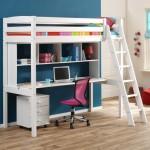 lit superpose avec bureau pour fille