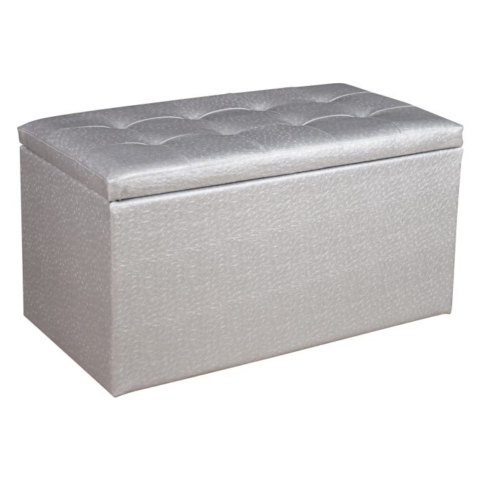 bout de lit argent visuel 2. Black Bedroom Furniture Sets. Home Design Ideas