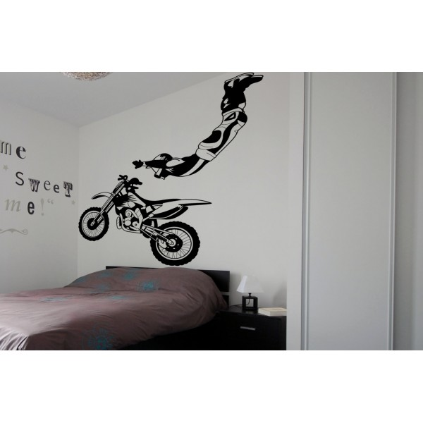 chambre deco moto cross visuel 8. Black Bedroom Furniture Sets. Home Design Ideas