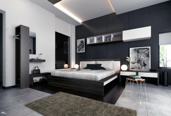 chambre deco noir et blanc - visuel #7