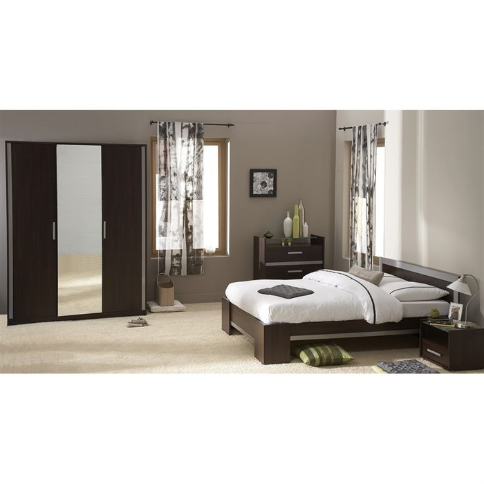 Commode chambre but commode achat vente pas cher cdiscount commode de rangement chambre for Chambre wenge alinea