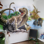 chambre decoration dinosaure