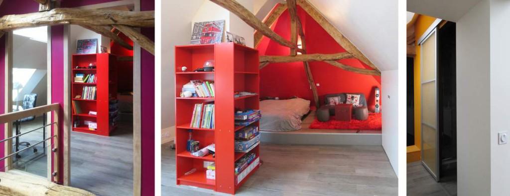 Chambre Ado Comble : Deco chambre ado comble visuel