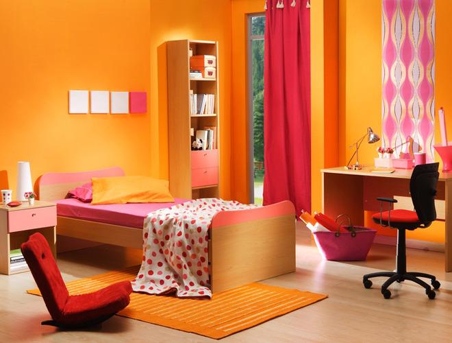 Emejing Chambre Fille Orange Et Rose Images - Sledbralorne.com ...