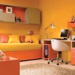deco chambre ado fille orange