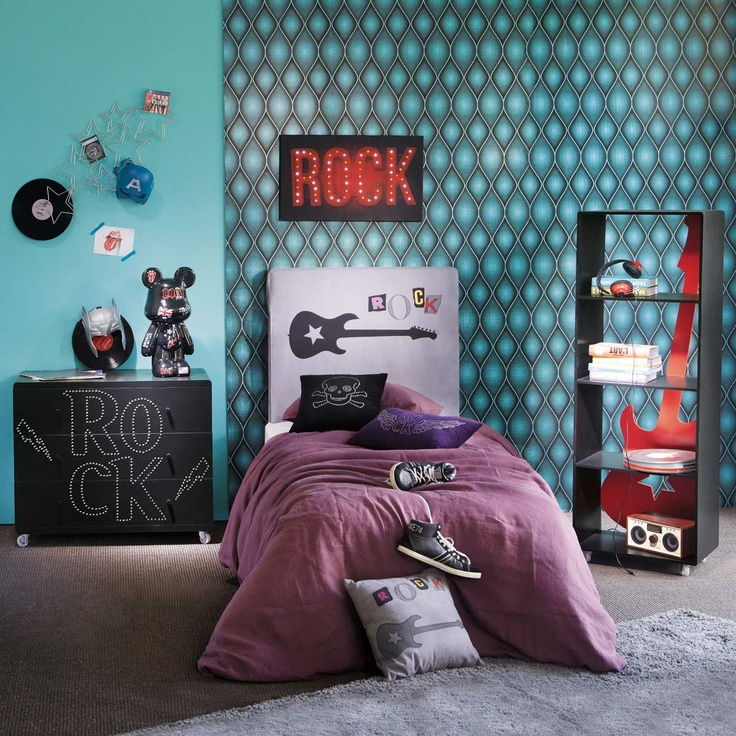 deco chambre ado fille rock visuel 2. Black Bedroom Furniture Sets. Home Design Ideas