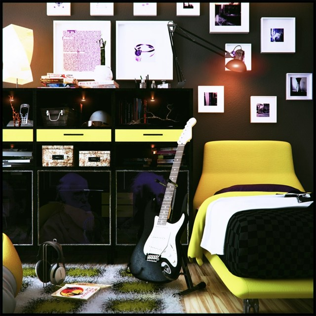 Room Design Teenage Ideas Bedroom: Deco Chambre Ado Fille Rock