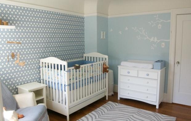 Chambre gris bleu bebe pr l vement d for Deco chambre bebe bleu