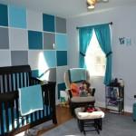 deco chambre bebe bleu petrole