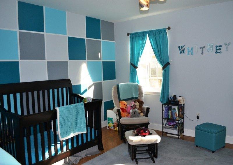 Deco chambre bebe bleu petrole visuel 4 for Deco chambre bleu