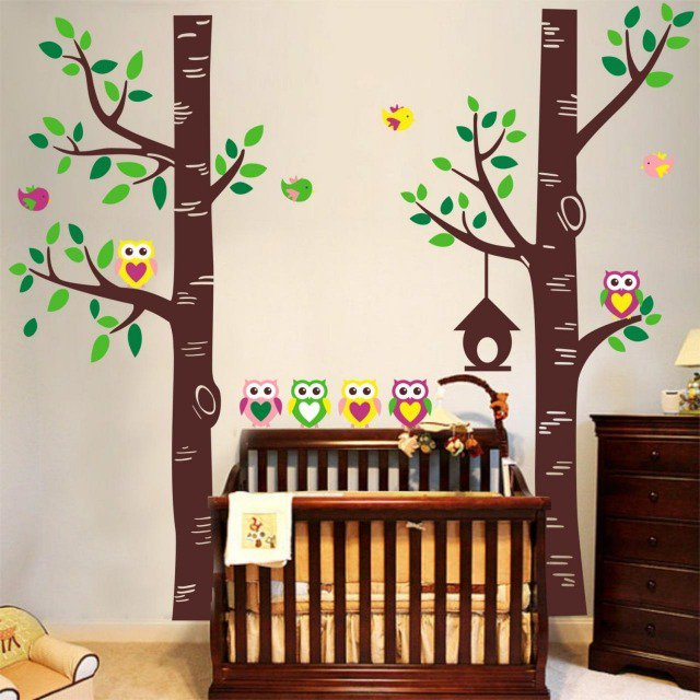 deco chambre bebe foret visuel 7. Black Bedroom Furniture Sets. Home Design Ideas