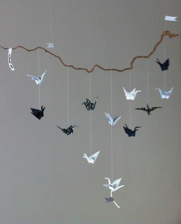 Maison Contemporaine Bois Bretagne : deco chambre bebe origami