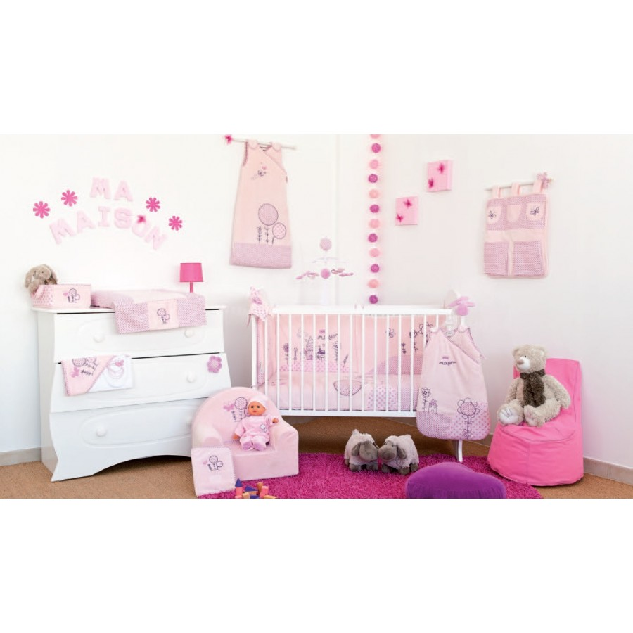 Deco chambre bebe fille papillon maison design for Deco chambre bebe fille rose