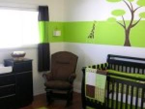 deco chambre bebe vert et marron - visuel #5