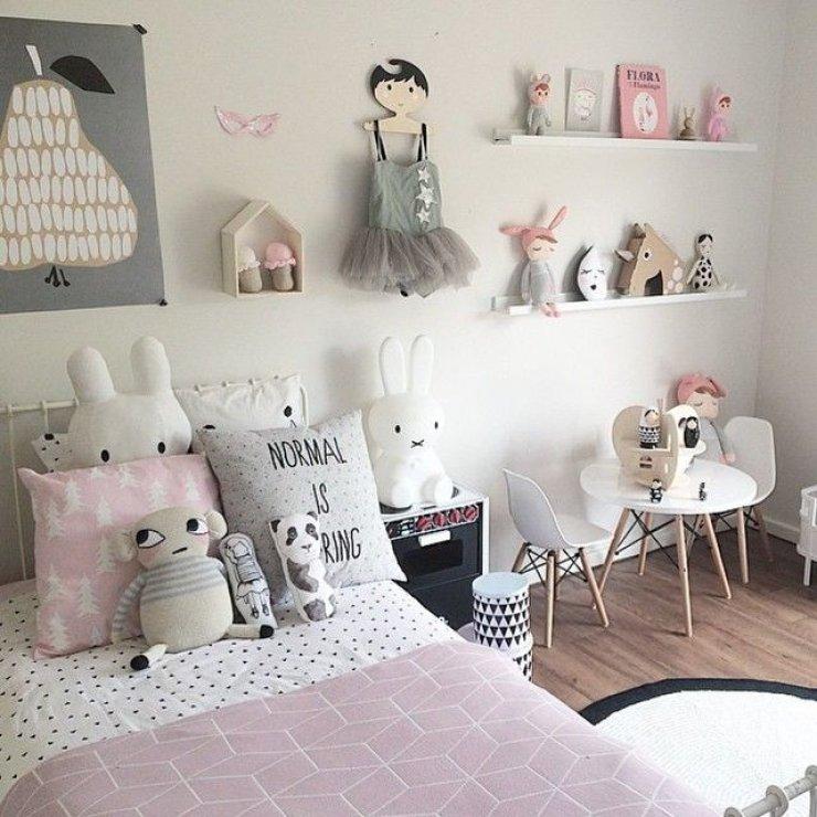 deco chambre fille beige et rose