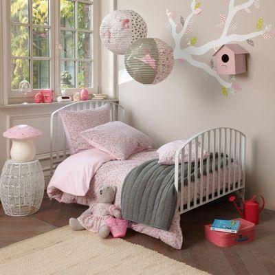 deco chambre fille beige et rose - visuel #8