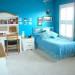 deco chambre fille bleu